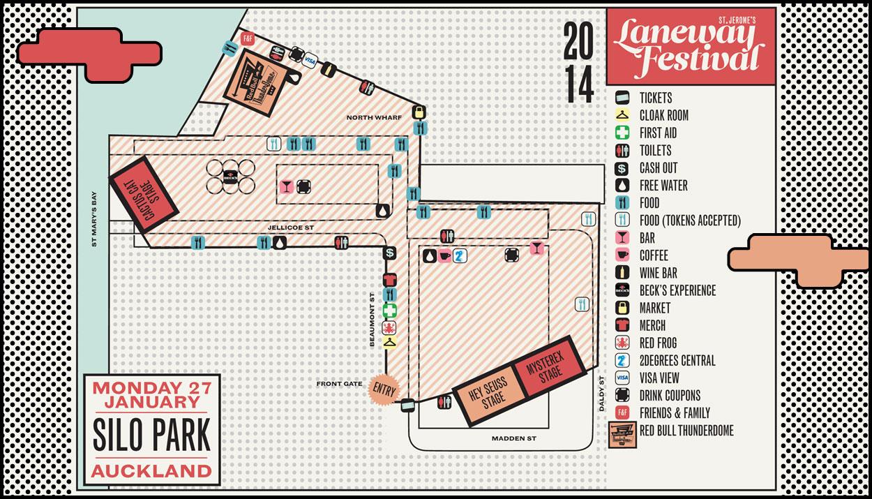 Laneway Festival Map