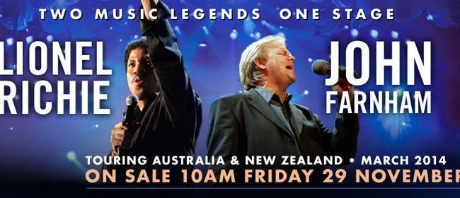Lionel Richie and John Farnham NZ Tour