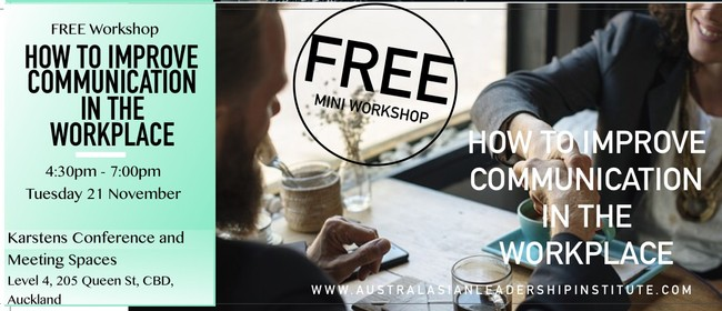 Free workshop: How To Improve Communication In The Workplace