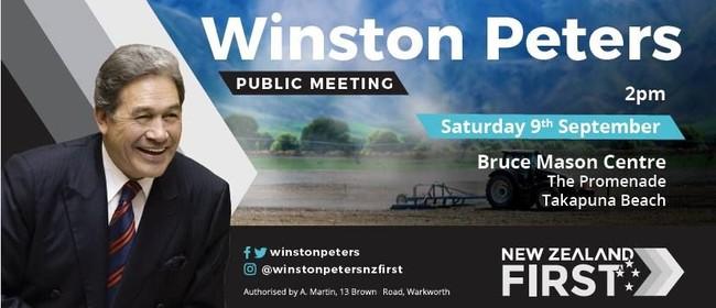 Winston Peters Public Meeting