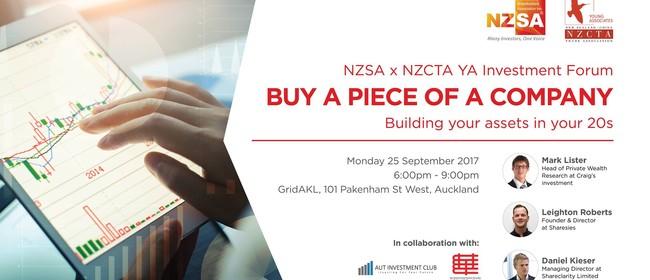 Buy a Piece of A Company: NZCTA YA x NZSA Forum 2017