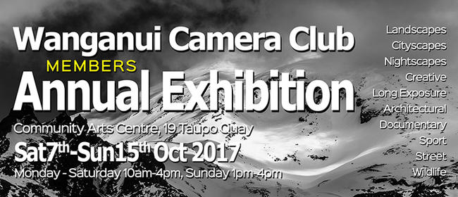 Wanganui Camera Club Members Annual Exhibition