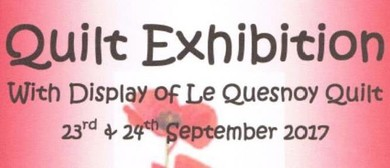 Cambridge Quilt Exhibition, with Le Quesnoy Liberation Quilt