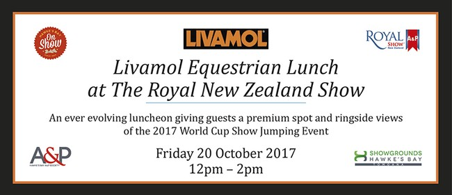 Livamol Equestrian Lunch at The Royal New Zealand Show
