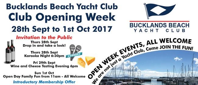 Bucklands Beach Yacht Club Open Week
