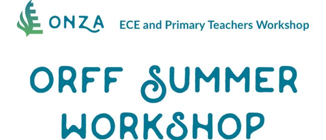 ONZA 2018 Summer Workshop
