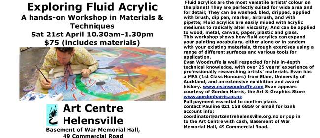 Fluid Acrylics Workshop With Evan Woodrufffe