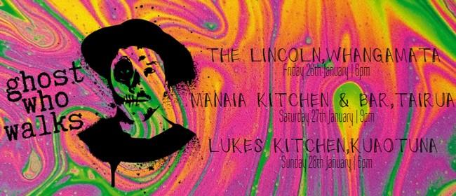 Ghost Who Walks at Lukes Kitchen: Coromandel Tour