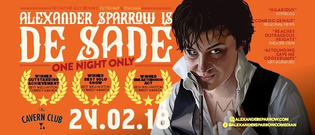 One Night Only: Alexander Sparrow is de Sade
