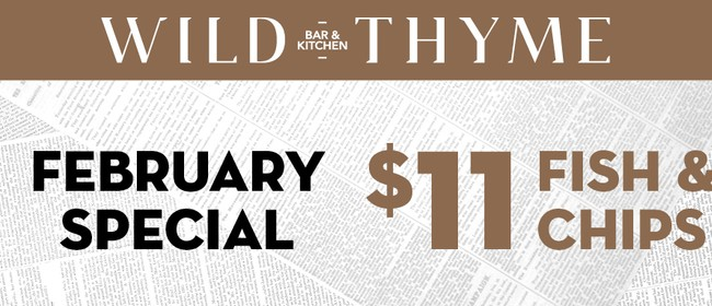 $11 Fish & Chips - February Special