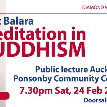 Meditation In Buddhism Public Talk by Matt Balara