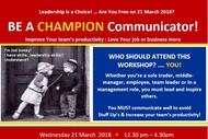 Be A Champion Communicator