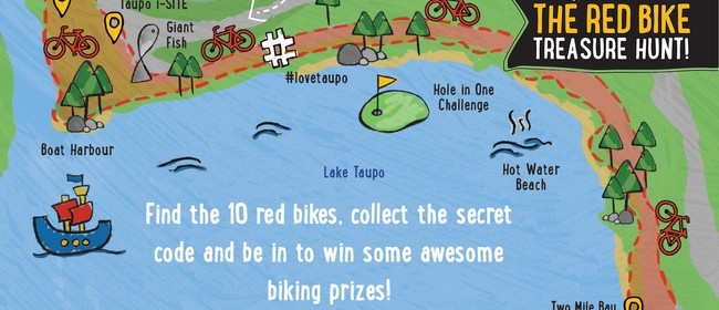 Taupo Red Bike Treasure Hunt