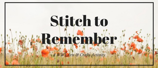 School Holiday Activity: Stitch to Remember