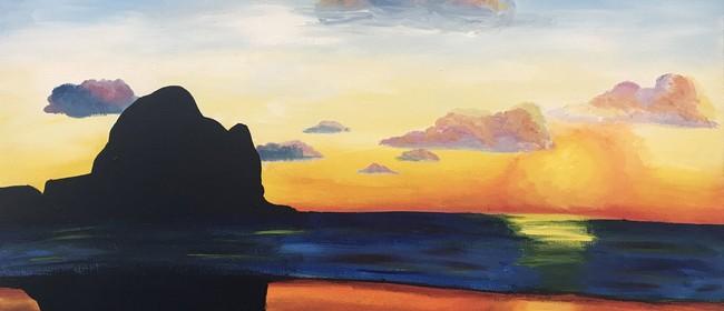 Paintvine – Piha Sunset
