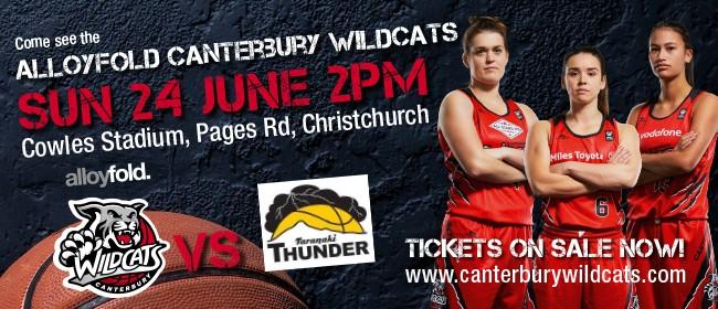 Alloyfold Canterbury Wildcats vs Taranaki Thunder