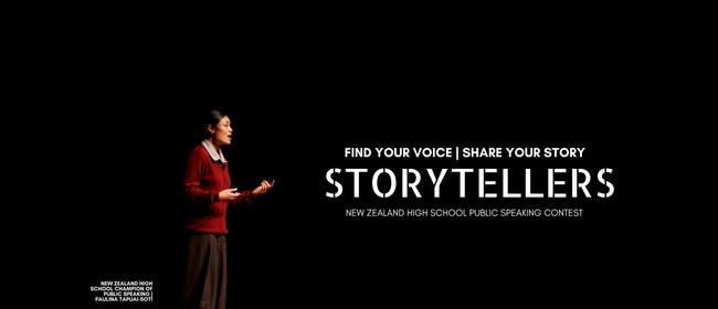 Storytellers NZ: High School Public Speaking Contest 2018