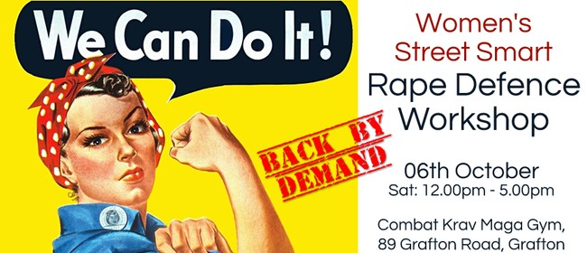 Women's Street Smart Rape Defence Workshop: CANCELLED
