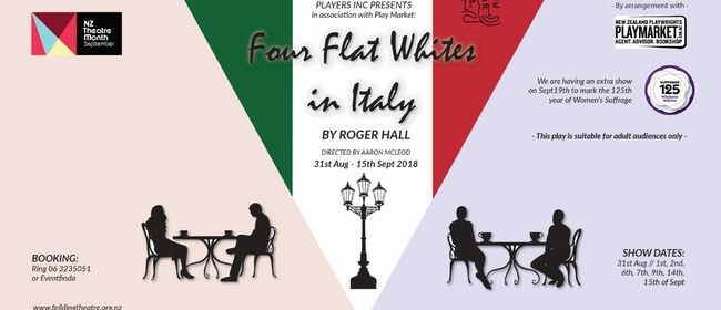 Four Flat Whites in Italy by Roger Hall
