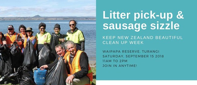 Litter Pick-up and Sausage Sizzle - Taupo District Council