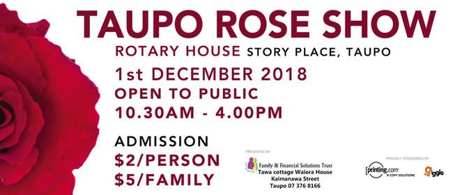2018 Taupo Rose Show