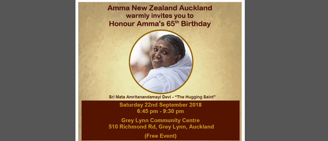 Honoring Amma's 65th Birthday