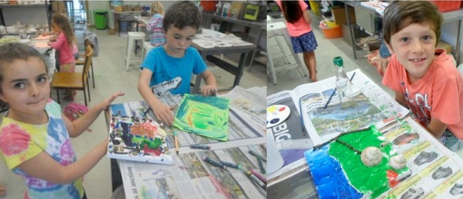 Mixed Media Painting Workshop for Kids