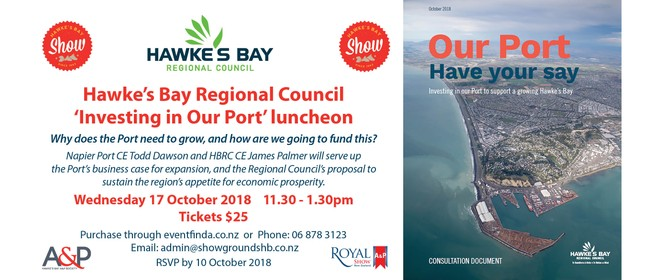 Hawke's Bay Regional Council 'Investing In Our Port' Lunch