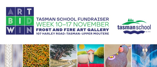 Art Bid Win - Tasman School Fundraiser - Exhibition Week