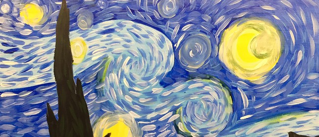 Paint and Wine Night - The Starry Night - Paintvine