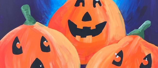 Paint and Wine Night - Spooky Pumpkins - Paintvine