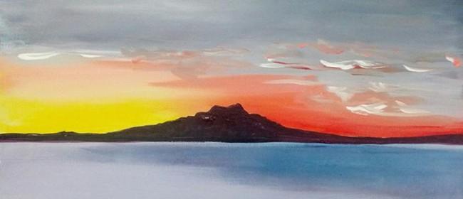 Paint and Wine Night - Rangitoto Sunrise - Paintvine