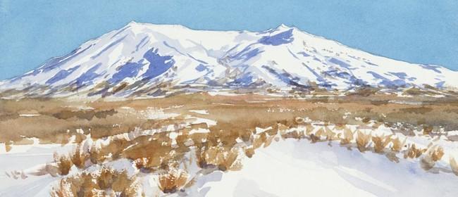 Wine and Watercolours - Mount Ruapehu
