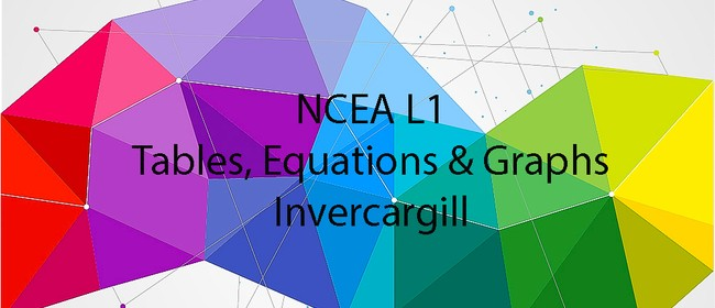 NCEA L1 Tables, Equations and Graphs AS91028