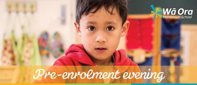 Wā Ora Montessori Pre-enrolment Evening