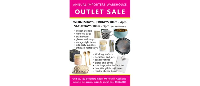 Annual Importers Warehouse Outlet Sale