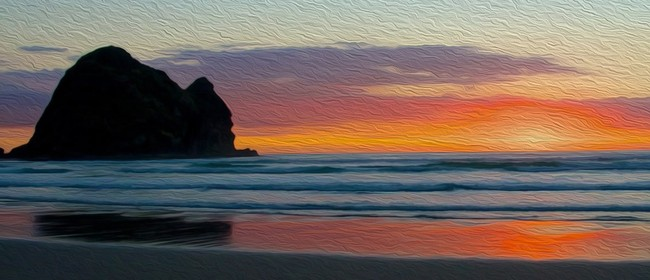 Wine and Paint Party - Piha Sunset Painting