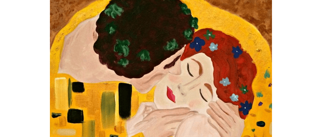 Wine and Paint Party - Klimpt's Kiss Painting
