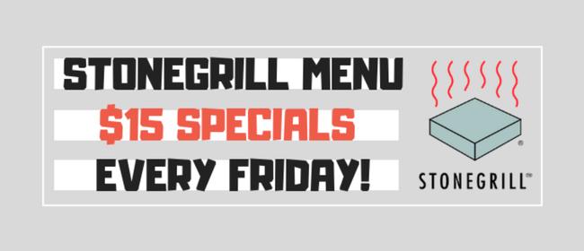 D4 Weekly Deals: $15 Stonegrill Menu