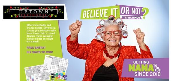 Trivia Bingo - A Pub Quiz's Naughty Little Sister!: POSTPONED