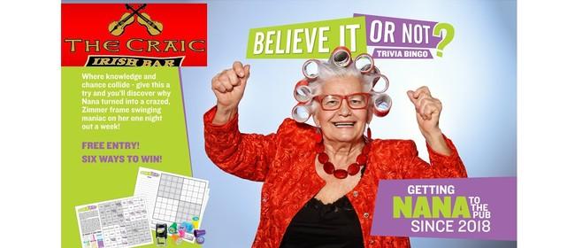 Trivia Bingo - A Pub Quiz's Naughty Little Sister!
