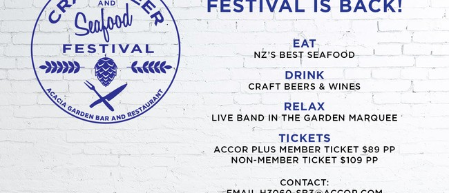 Craft Beer and Seafood Festival 2018