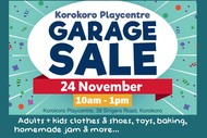 Garage Sale - Korokoro Playcentre