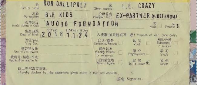 i.e. crazy, Bib Kids, Ex-Partner, Ron Gallipoli