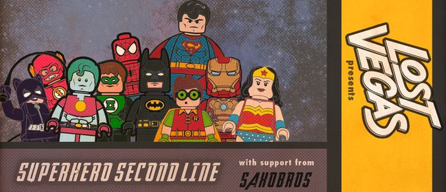 Lost Vegas - Superhero Second Line with Saxobros