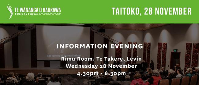 Te Wānanga o Raukawa Information Evening