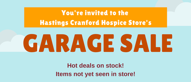 Cranford Hospice Garage Sale - Hastings Store