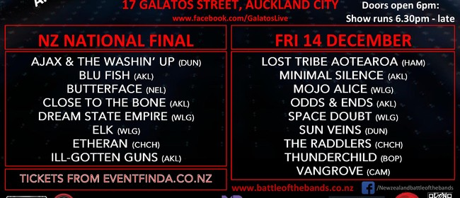 Battle of the Bands 2018 National Championship - NZ FINAL