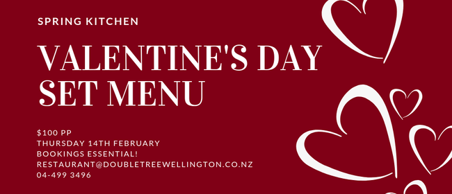 Valentine's Day Set Menu