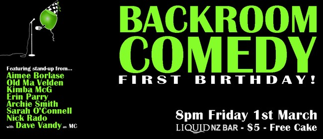 Backroom Comedy - First Birthday